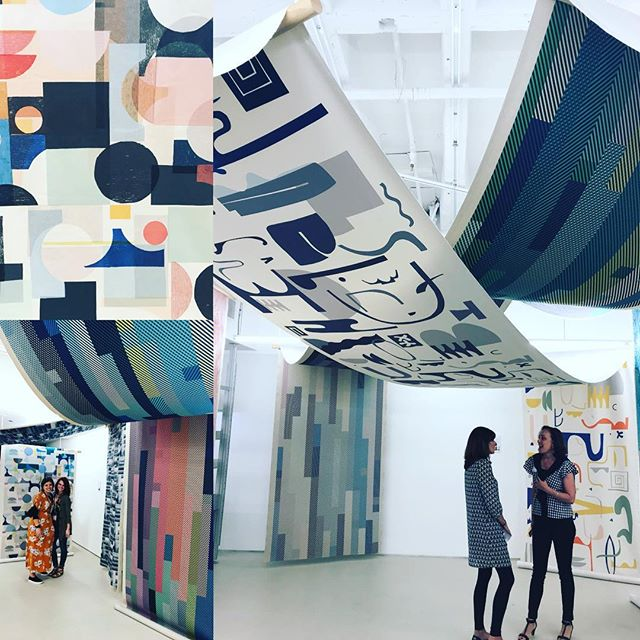 @Design tex_inc utilizes art to create newly printed fabrics with Crypton protection.  @fusempls will be happy to help you source creative solutions for your next project.  #workplace #home #hospitality #interiors #interiordesign #fabric #art #fusempls