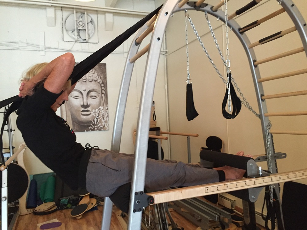 The Arch, using deep abdominal muscles to lift body.