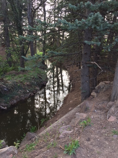 Silver Lake Ditch at bottom of Vista Overlook Trail.