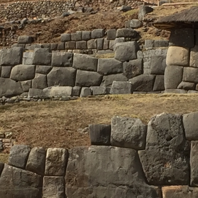 Sample of Inca wall, rocks might take 2000 men 10 years to move into place.