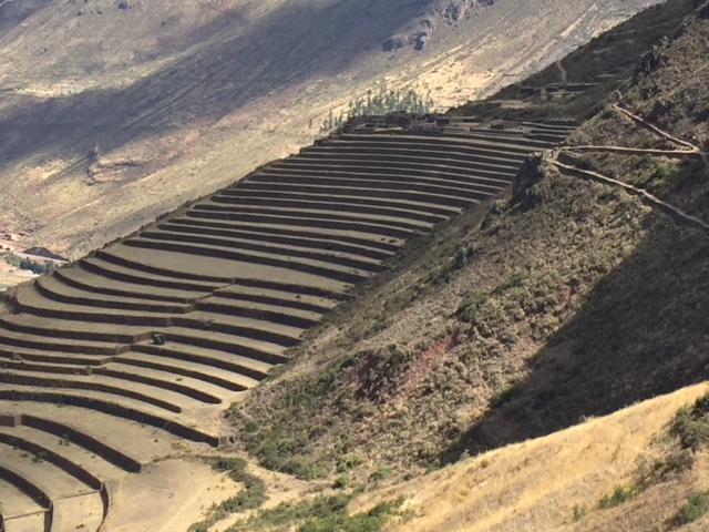 Terraces at Pisac palace.