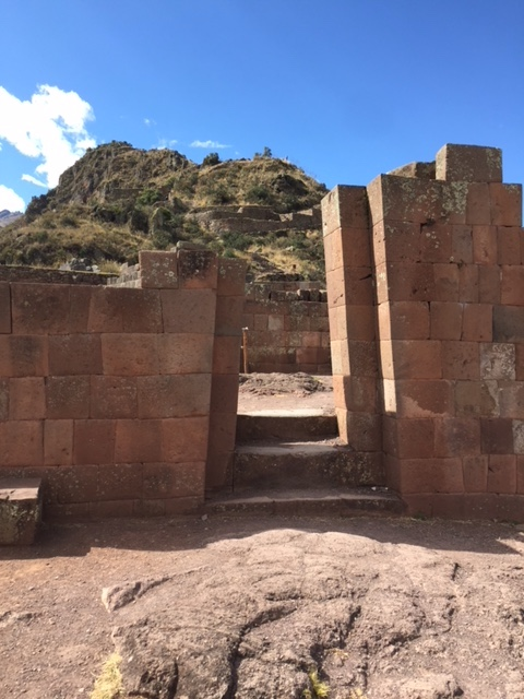 Entry to Sun Temple (and sundial) at Pisac.