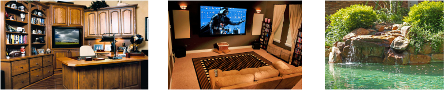 Whether you're looking to update your home office, give yourself a new media room, or a fantastic new swimming pool, Man Cave is the solution for you. Man Cave specializes in custom home creations that will fufill your every fantasy! Make your house your dream home with the experts at Man Cave. Man Cave is a division ofSierra Fine Custom Homes.