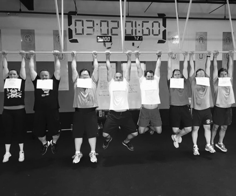 101 Class Graduation at Iron Tribe East Memphis in August 2015. That's me on the far left. I can't believe how far I've come!