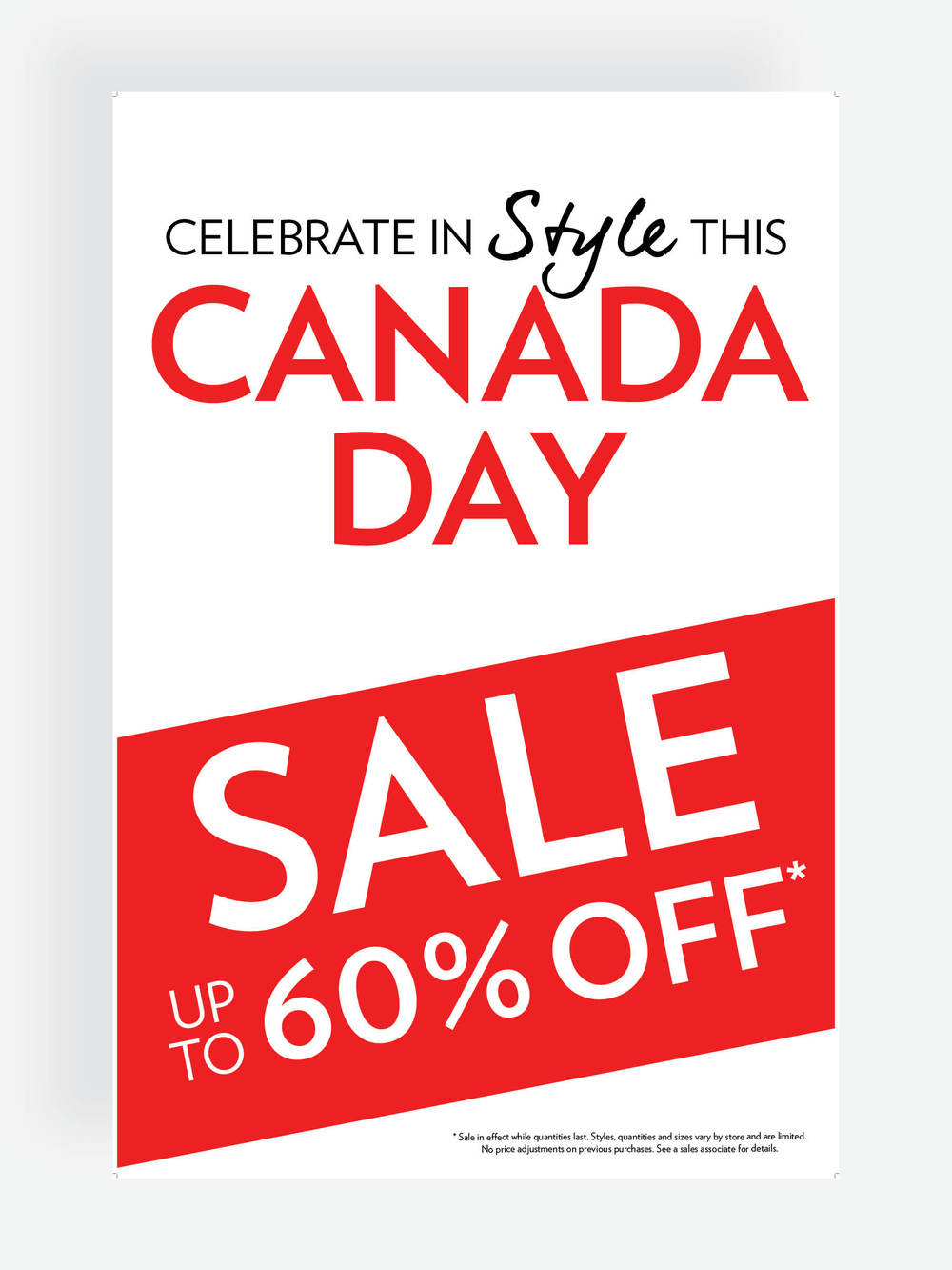 hr2 Canada Day Store Signage
