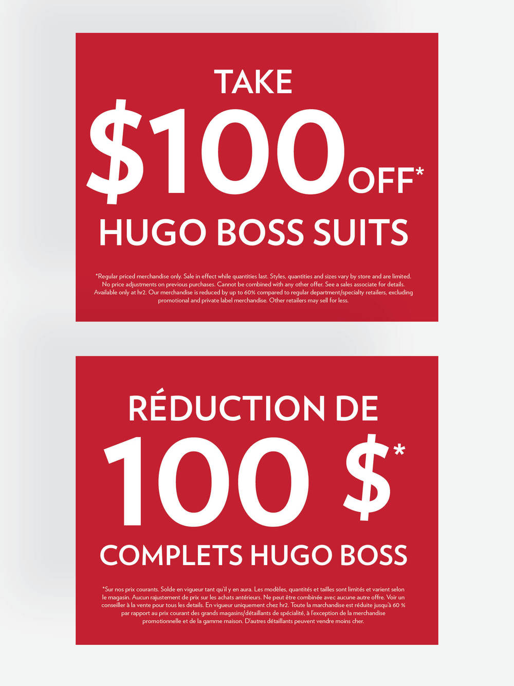 hr2 Hugo Boss In Store Signage