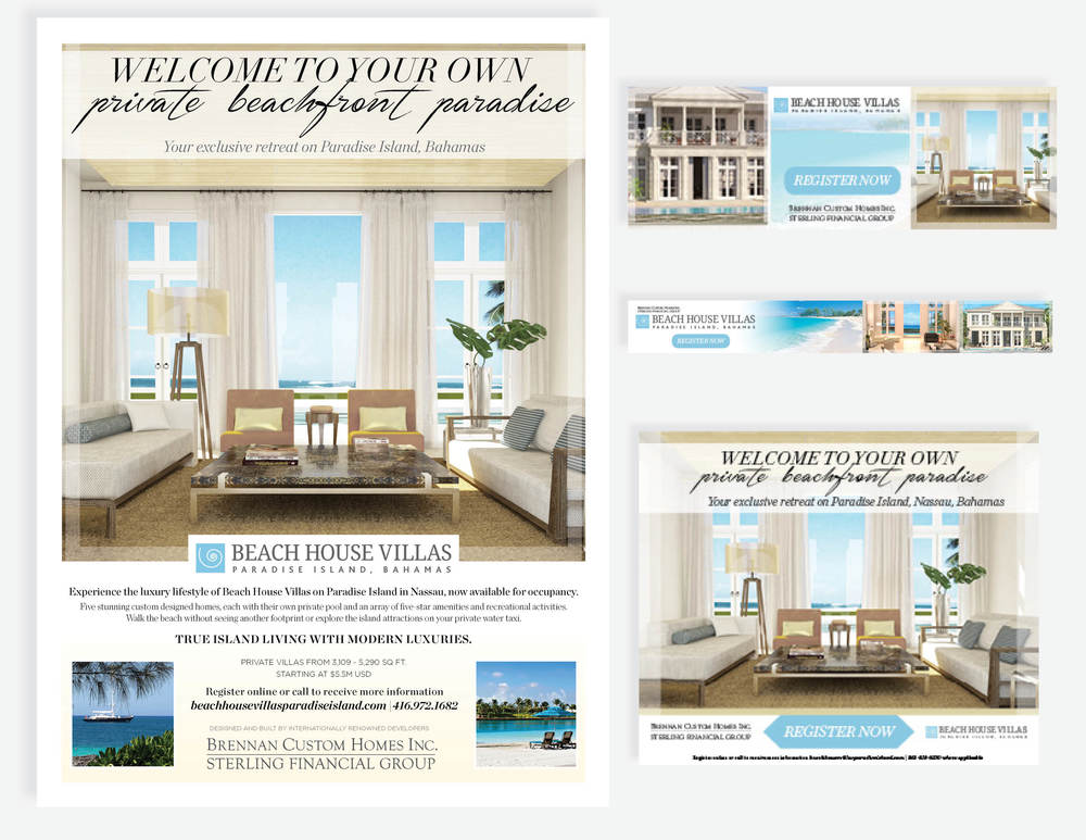 Beach House Villas ad for GAM & Robb Report