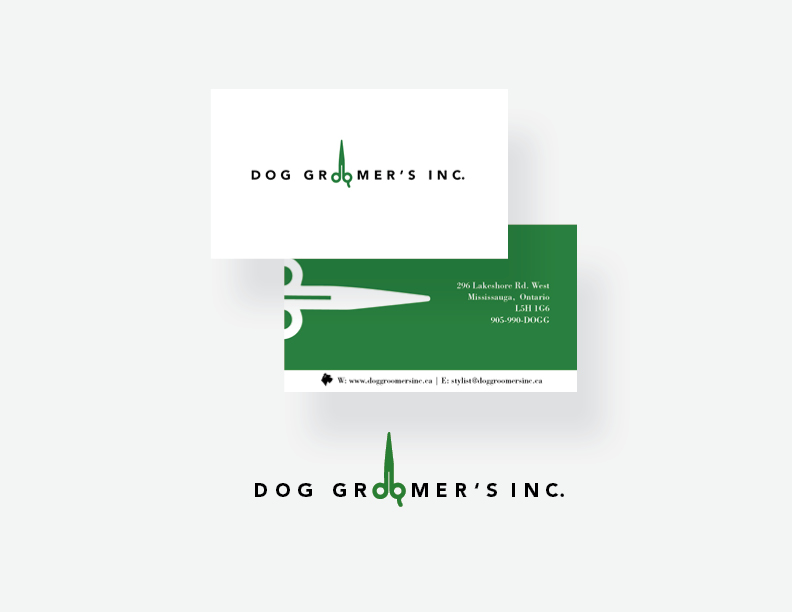 Dog Groomers Inc. Logo & Business Card