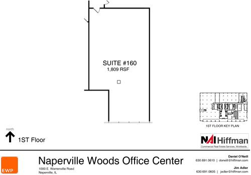 1000 Warrenville Rd Suite 160 1,809 RSF