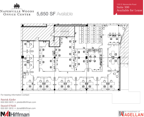 1100 Warrenville Rd Suite 100 5,650 RSF