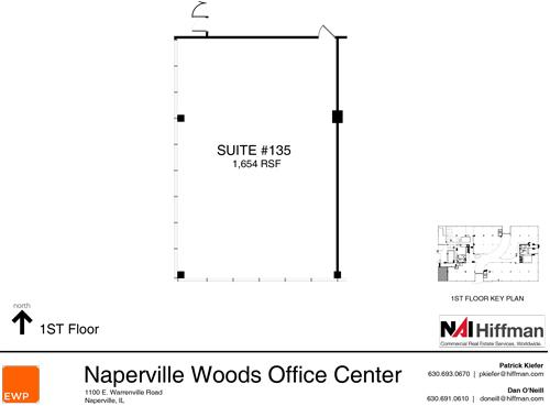 1100 Warrenville Rd Suite 135 1,654 RSF