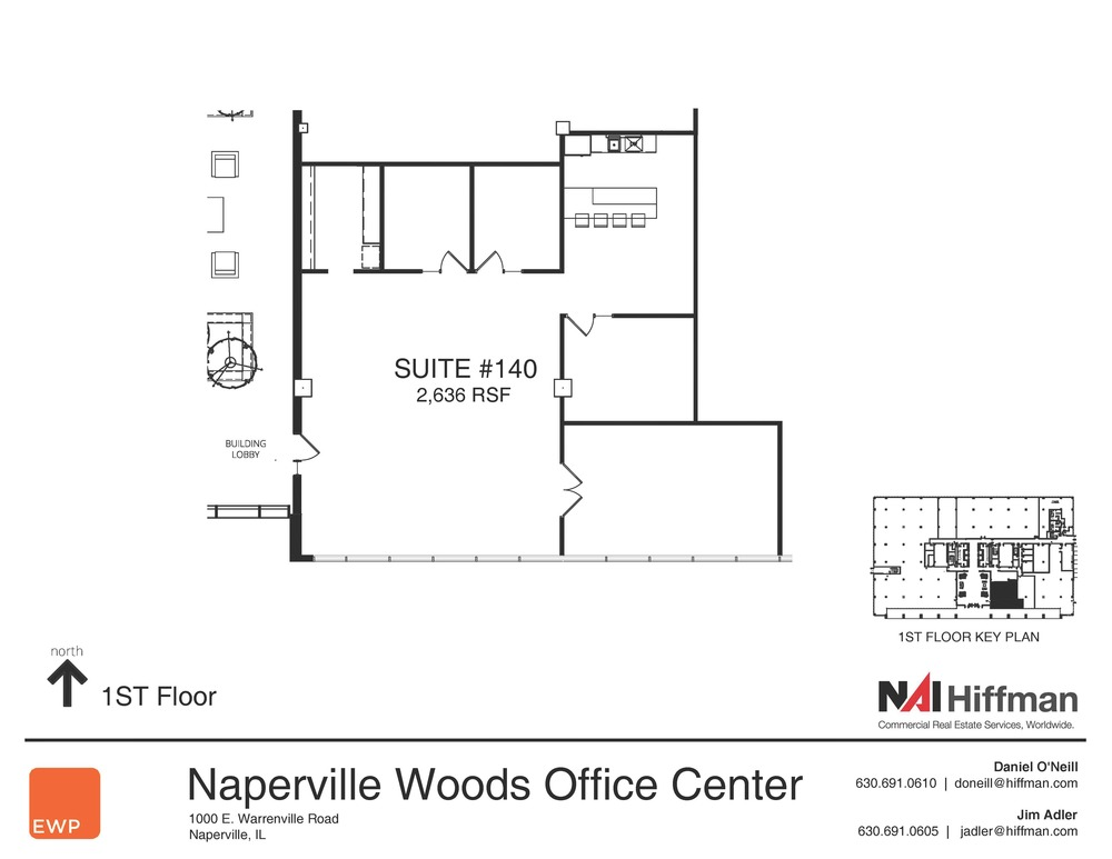 1000 Warrenville Rd Suite 140 2,636RSF