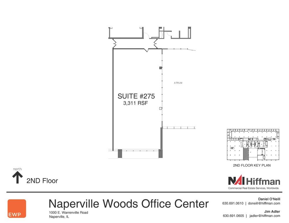 1000 Warrenville Rd  Suite 275  3,311 RSF
