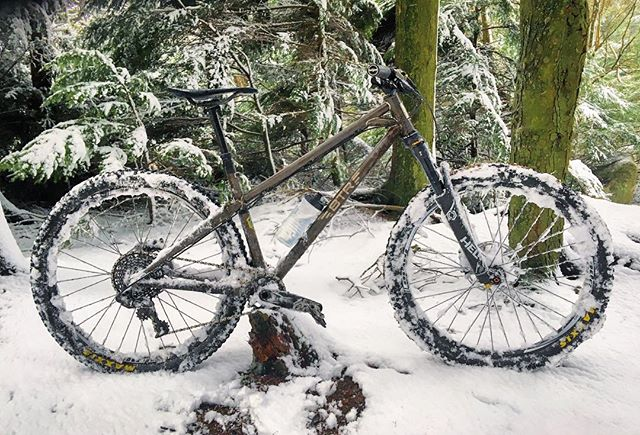 #SnowDay in #NorthernIreland! Perfect day for a wee spin in the woods ❄️ #SnowRanger #BTR #BTRBadgers #MTB