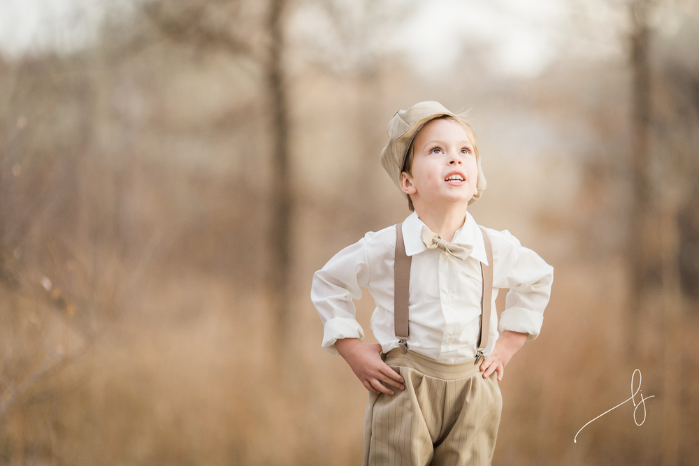 vintage fishing photoshoot | Denver Child Photographer
