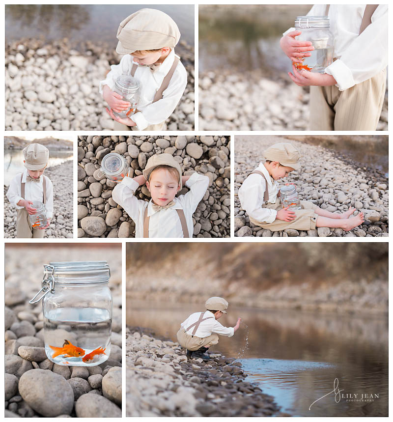 Vintage Fishing Photoshoot| Colorado Springs Child Photographer