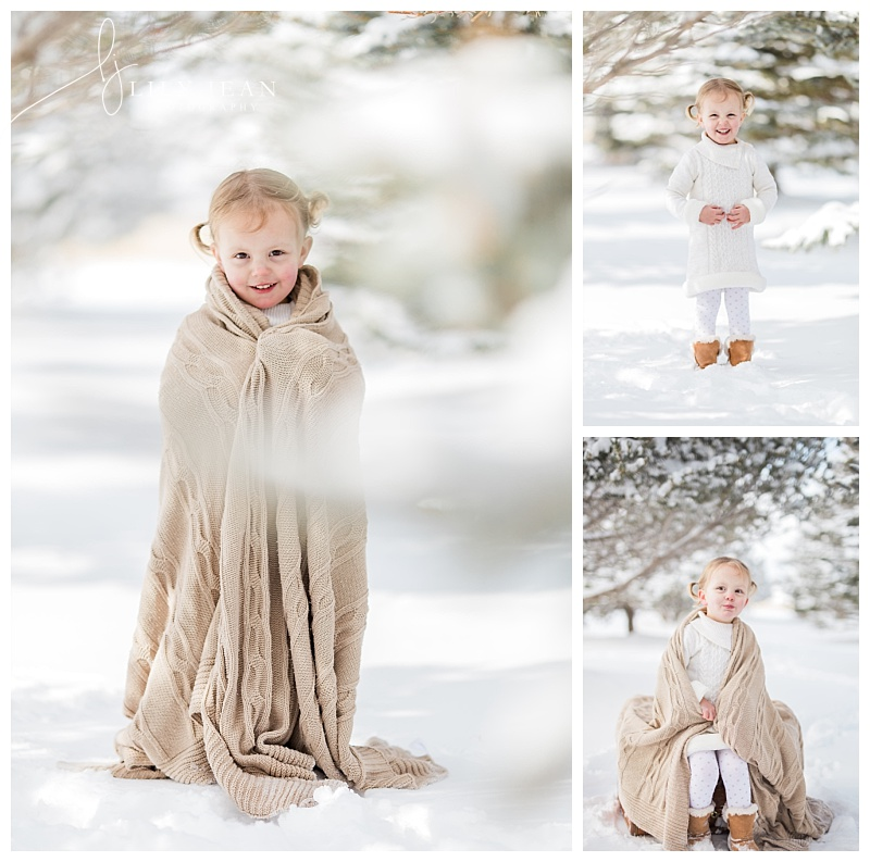 Colorado springs family photographer snow photos