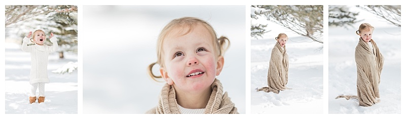 Denver Family Photographer snow portraits