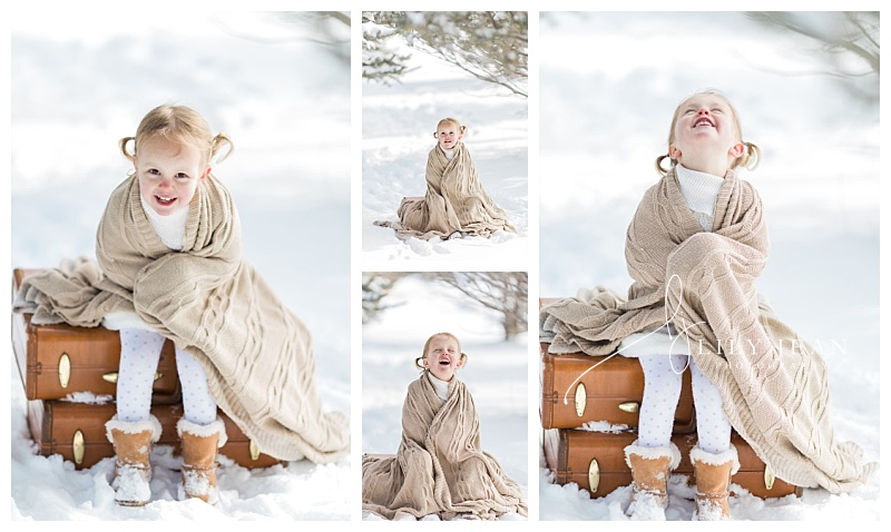 Colorado Family Photographer child snow portraits
