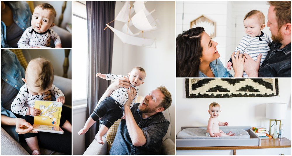 Lifestyle Family Photo of parents playing with baby by Lily Jean Photography