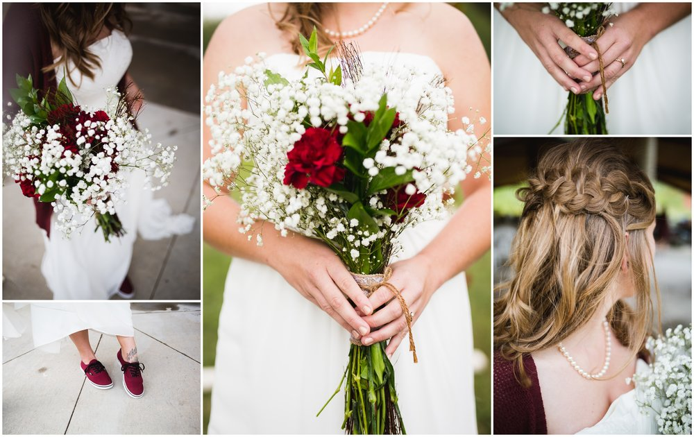 Mountain wedding decor and hairstyle by Lily jean Photography