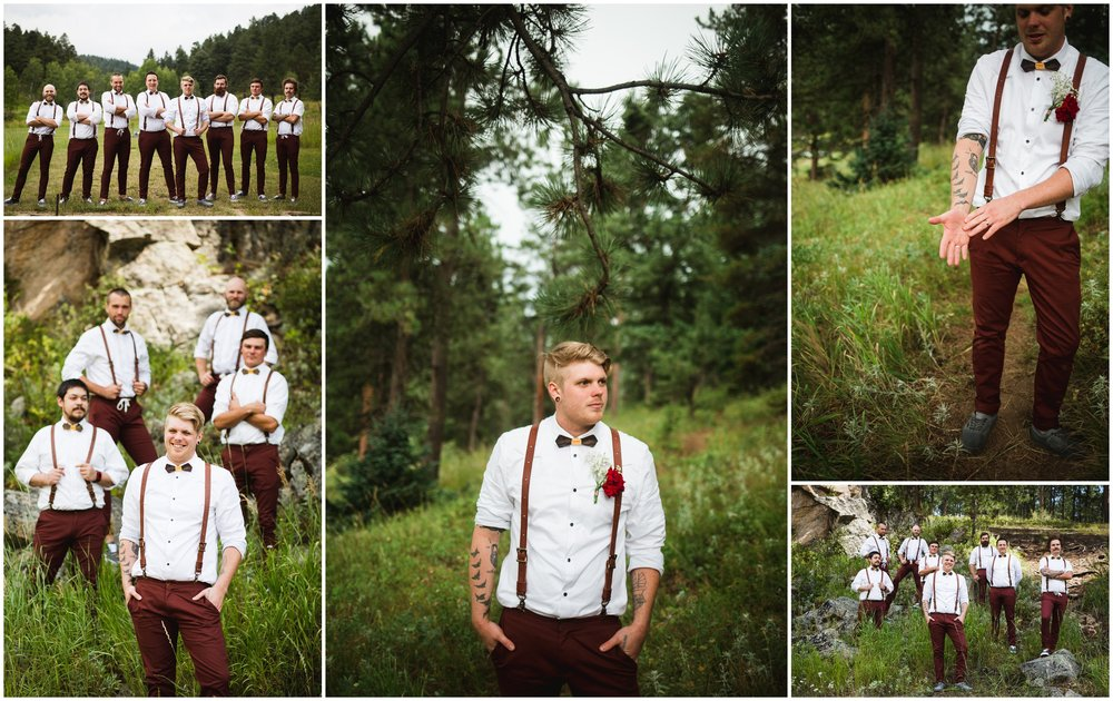 Groom in Newton Stromberg Park Wedding by Lily Jean Photography