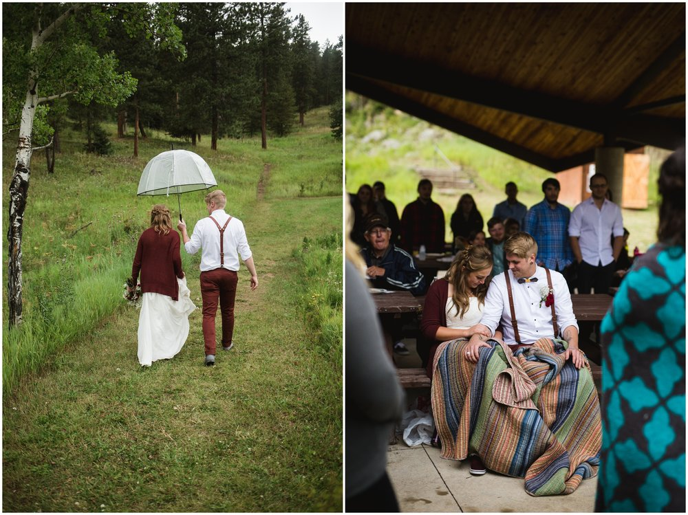 Rainy Mountain Wedding by Lily Jean Photography