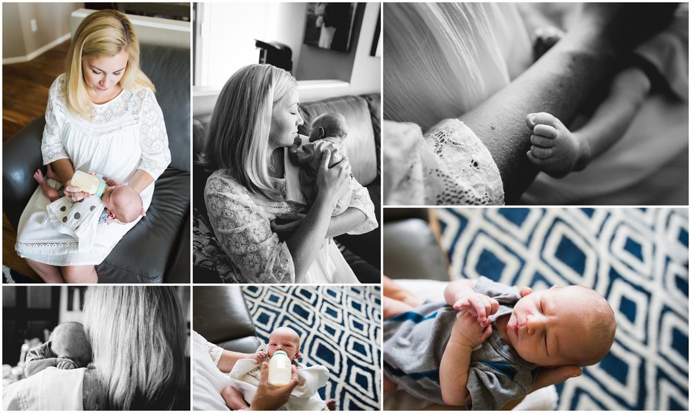 Fort Collins Colorado lifestyle newborn photography session