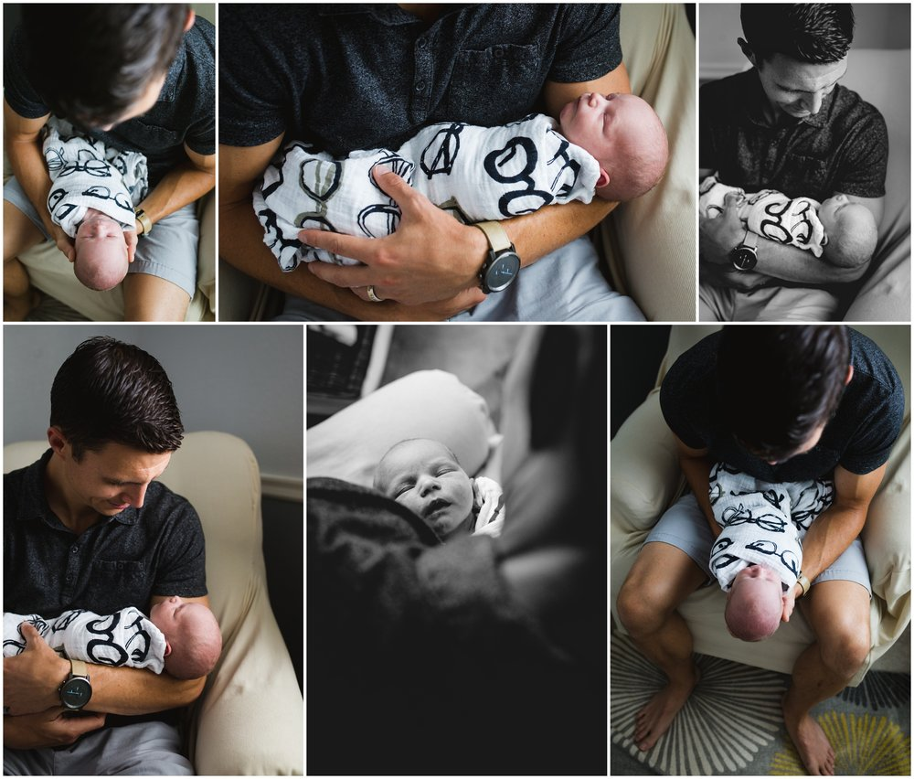 father and newborn son photo by Lily Jean Photography