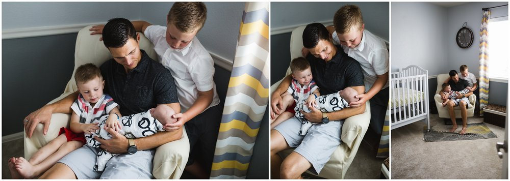 Lifestyle Newborn with siblings photo by Lily Jean Photography