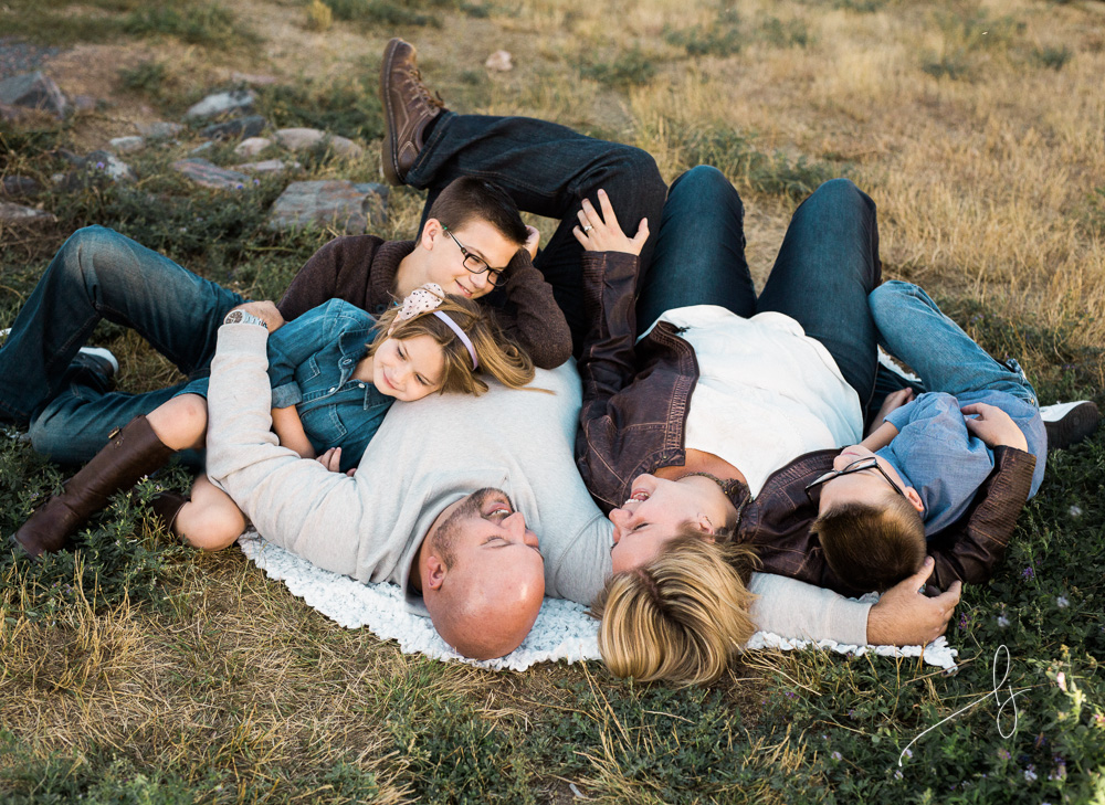 Lifestyle family of 5 photograph by Lily Jean Photography
