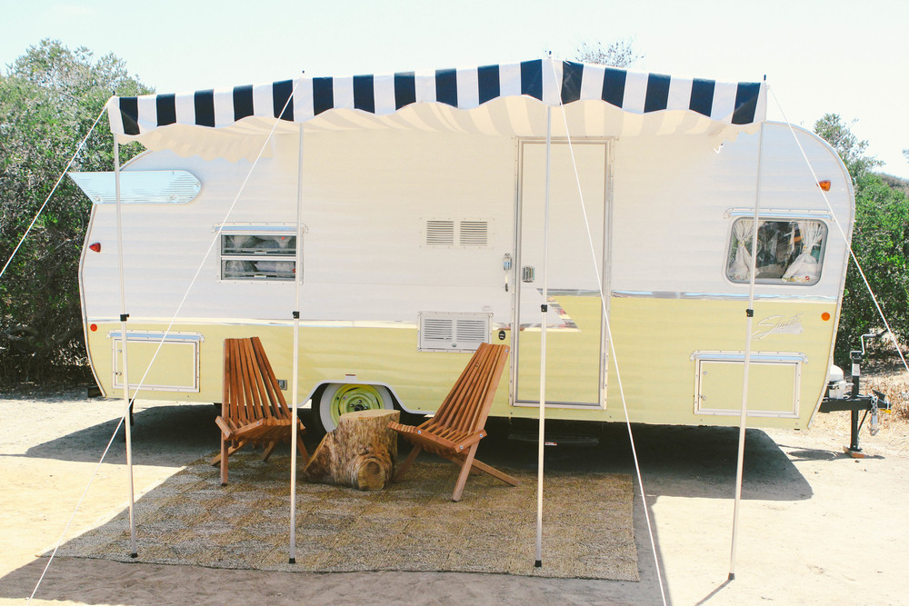 Vintage Shasta Trailer The Holidays Butternut yellow.jpg