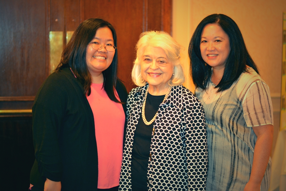 Left to Right   : EDI's Executive Director, Marci Nakano, along with Colleen Yamaguchi, thank Phyllis Kenney, former State Representative, for being the keynote speaker.