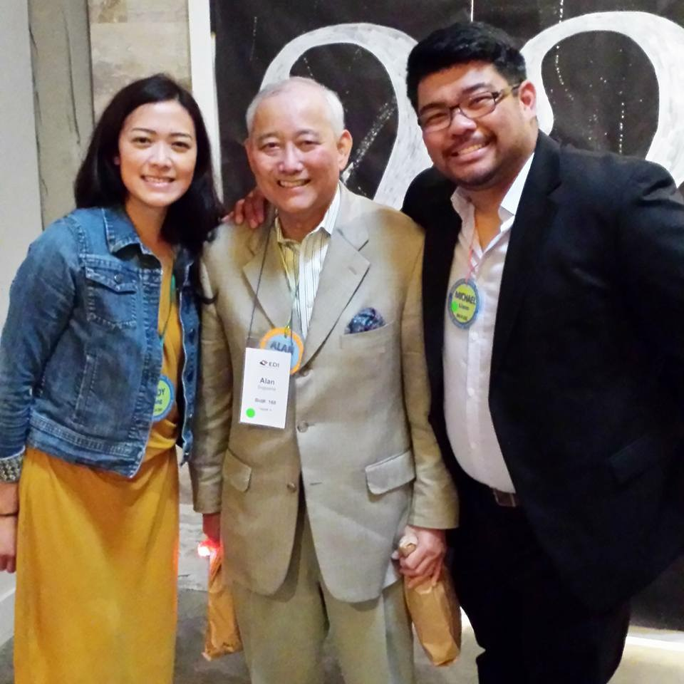 Left to Right:  At 2015 Inclusion Fusion, Jody Fang, Al Sugiyama, and Michael Liam hang outside the 'Mystery Room'.