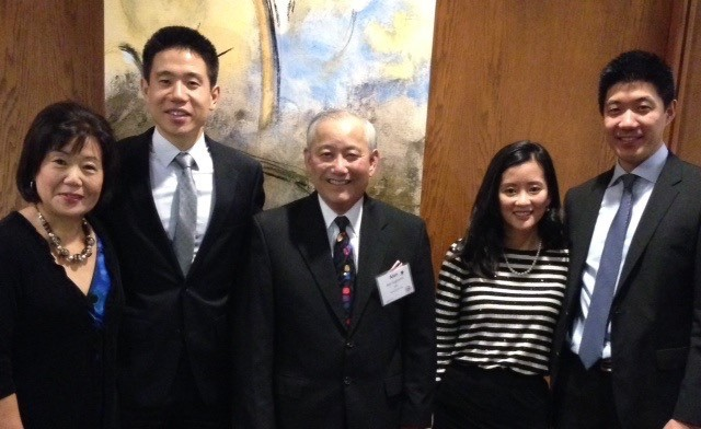 Left to Right:  Lilly Yamamura, Peter Yamamura, Al Sugiyama, Kathy Yamamura, and Brandon Yamamura pose for a photo.