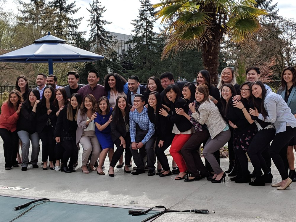 """The 2019 Leadership Discovery Puget Sound cohort poses for pictures during their Kick-Off in March. They chose the team name """"Mixed Plate"""" for their group."""