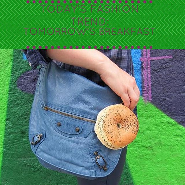#hellagoodbagels are in. #trending #trendspotting Eat your accessories! #wear #whatyoueat #nomnomnom #oakland #fashion