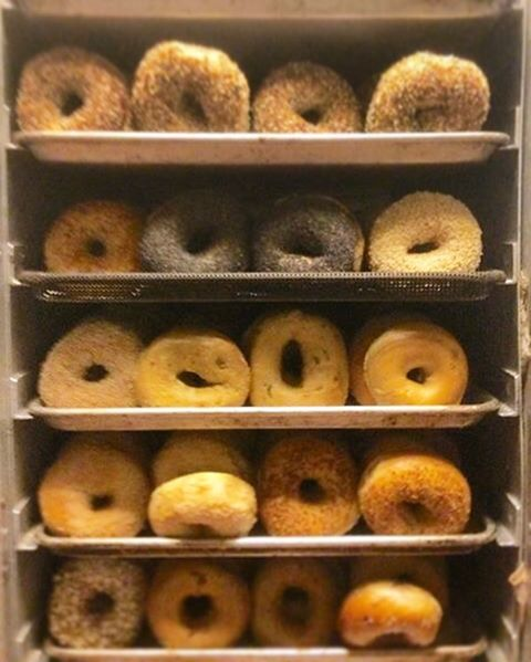 "Good morning Beautiful People! We hope everyone has a lovely morning & if you're in the Jack London area, stop by for a delicious bagel from ABC! Or just pop your head in and say ""Hi"". We always appreciate seeing our regulars and meeting new folks!! P.S don't forget to vote for your favorite bagel! The link is still in the bio. Ballot closes May 1st! Get to voting y'all  #voteABC #bestbaybagels #bagelsgoinguponatuesday #AuthenticBagel #12differentflavors #bagelrainbow #happytuesday #hellagoodbagels #weloveauthicbagel"