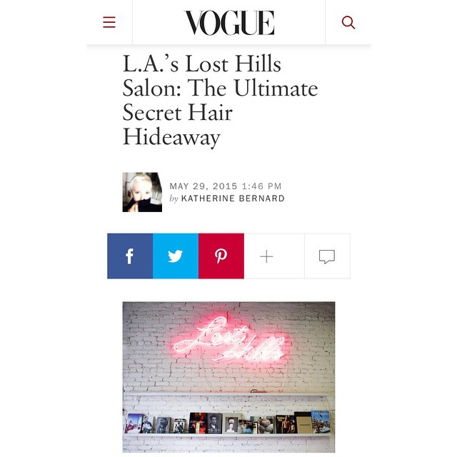 Lost Hills featured on Vogue.com