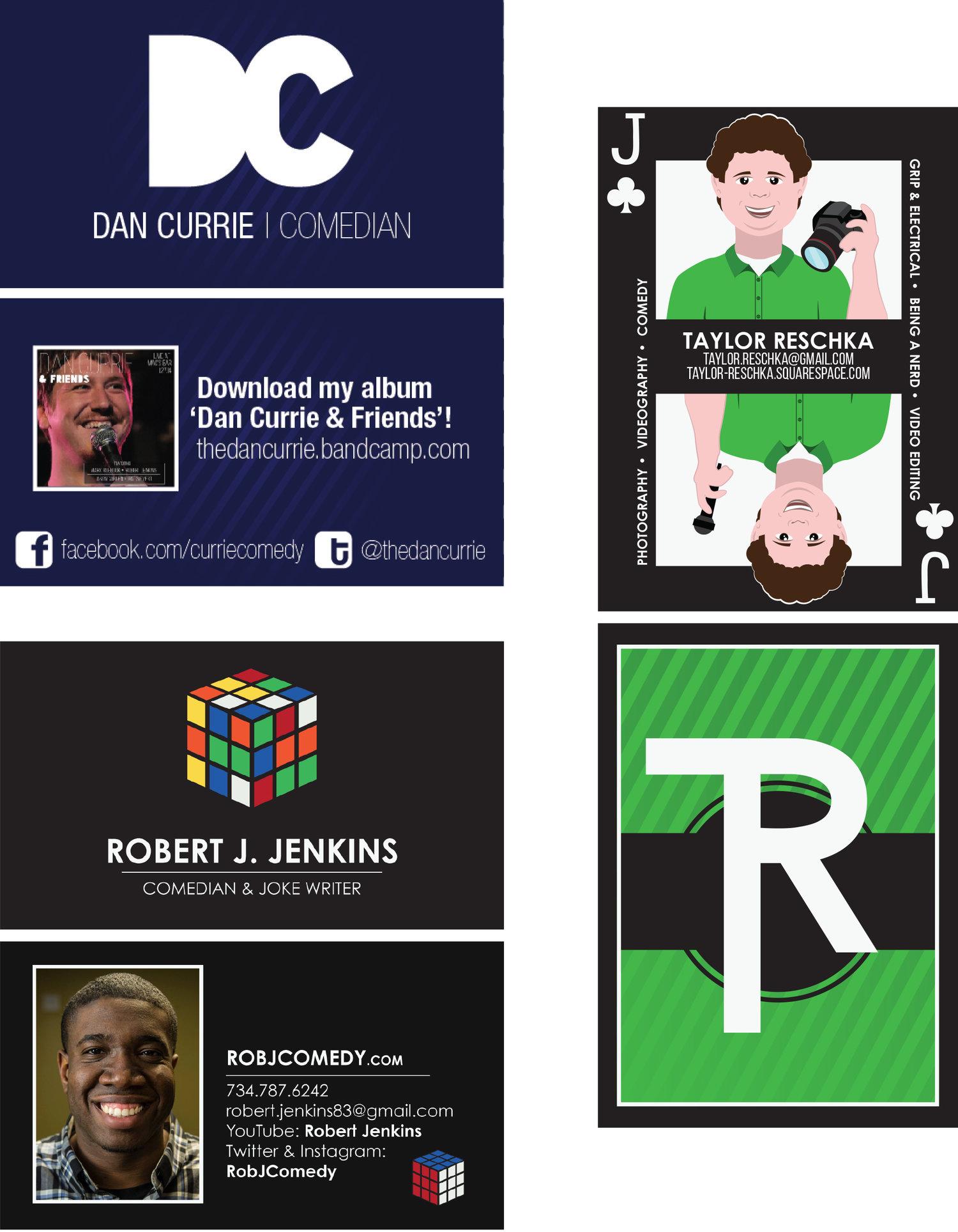 Beautiful Comedian Business Cards Embellishment - Business Card ...