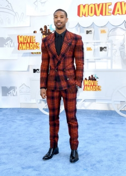 Michael B Jordan Plaid Suit