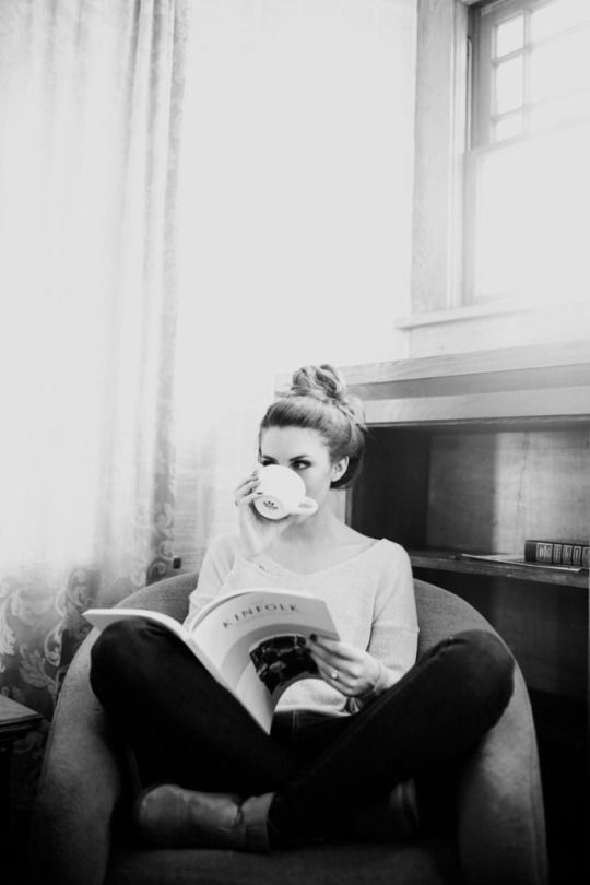 reading with tea