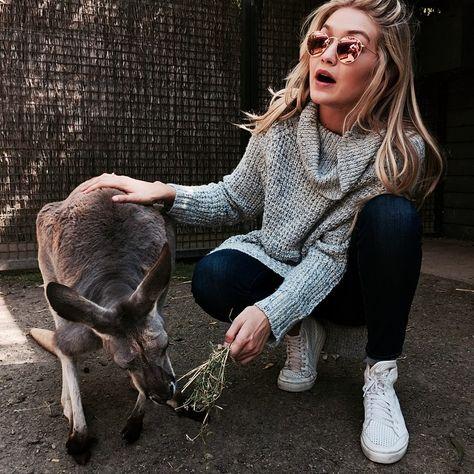 gigi and a kangaroo