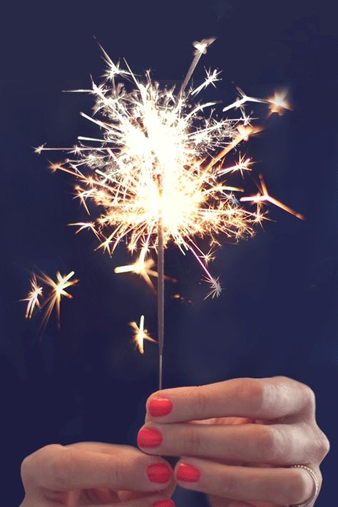 red nails & sparklers