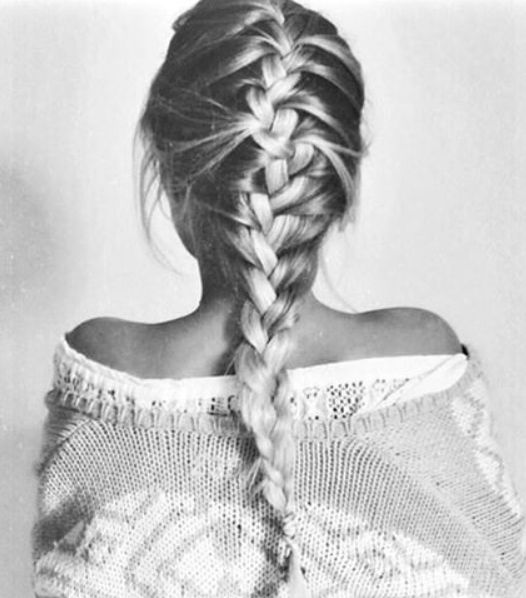 braid and sweater