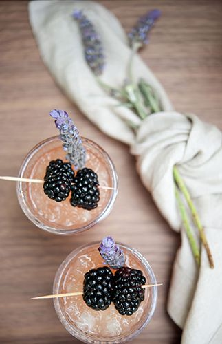 lavender and blackberries