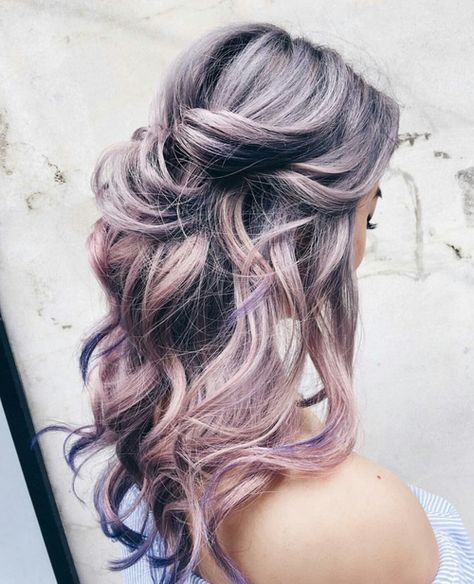 lavender and pink