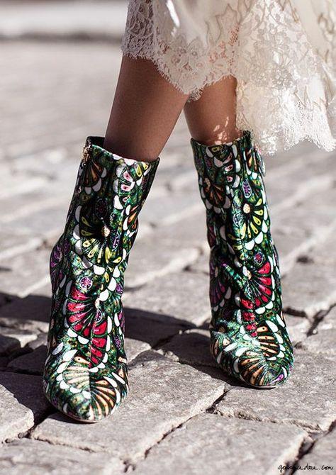 printed booties
