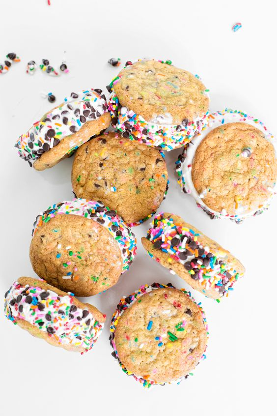 funfetti ice cream sandwiches
