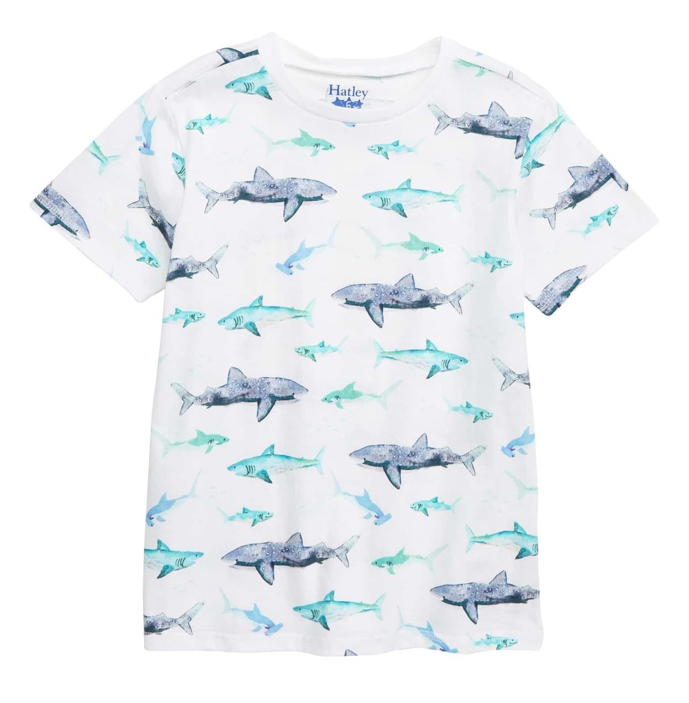 Hatley Watercolor Sharks T-Shirt